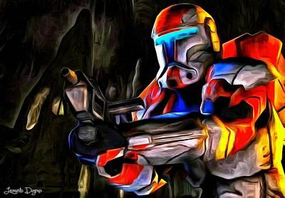 Cave Painting - Star Wars Hunter by Leonardo Digenio