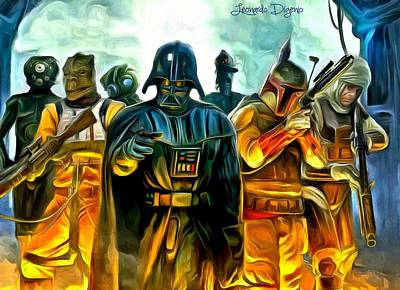 Movie Painting - Star Wars Join Us by Leonardo Digenio