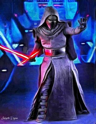 New Digital Art - Star Wars Kylo Ren - Da by Leonardo Digenio