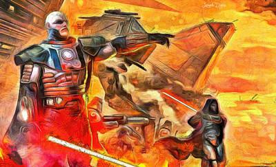 Unhappy Painting - Star Wars Lord Of War - Pa by Leonardo Digenio