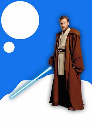 Starwars Mixed Media - Star Wars Obi Wan Kenobi Collection by Marvin Blaine