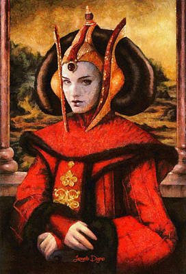 Chewbacca Painting - Star Wars Queen Amidala Classical by Leonardo Digenio