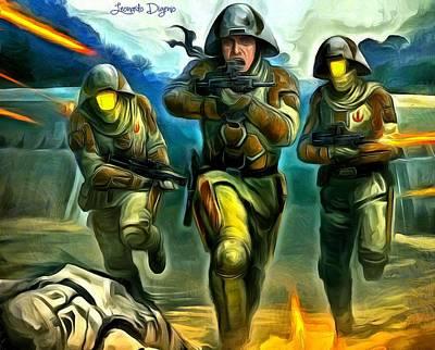 Run Painting - Star Wars Rebel Trooper by Leonardo Digenio