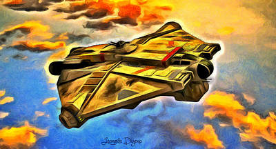 Rebel Painting - Star Wars Rebels Ghost by Leonardo Digenio
