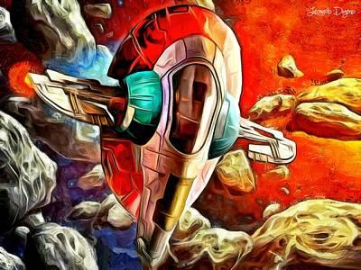 Star Painting - Star Wars Skull Ship by Leonardo Digenio