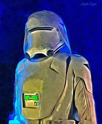Aviator Painting - Star Wars Snowtrooper - Pa by Leonardo Digenio