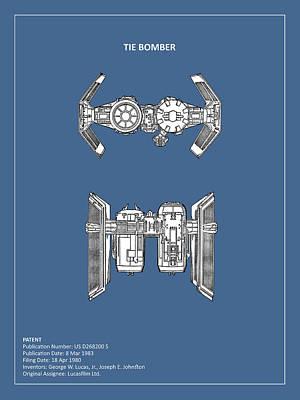 Ties Photograph - Star Wars - Spaceship Patent by Mark Rogan