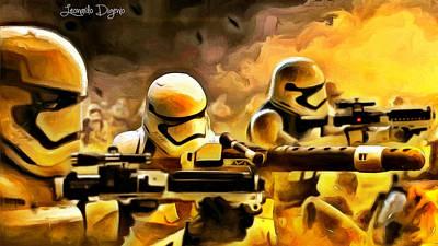 Hit Painting - Star Wars Storming by Leonardo Digenio