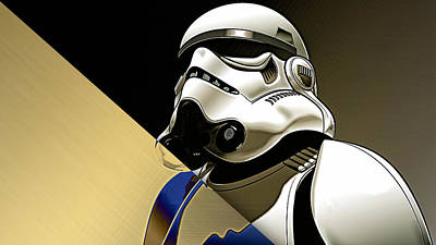 Star Wars Stormtrooper Collection Print by Marvin Blaine