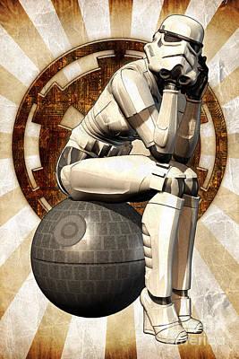 Stormtrooper Digital Art - Star Wars - Stormtrooper Girl by Luca Oleastri