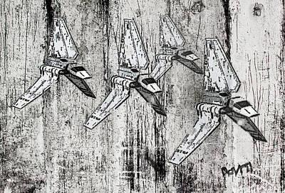 Star Wars Swarm  Print by Andy Walsh
