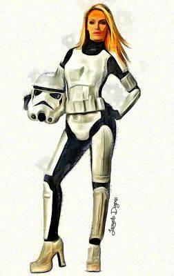 Seduction Painting - Star Wars The Beauty Of Dark Side by Leonardo Digenio