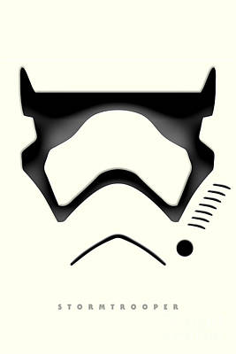 Stormtrooper Digital Art - Star Wars The Force Awakens - Stormtrooper by Luca Oleastri