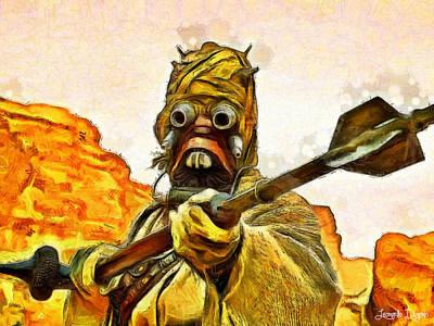 People Digital Art - Star Wars Warrior - Da by Leonardo Digenio
