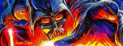 R2d2 Painting - Star Wars Your Turn by Leonardo Digenio