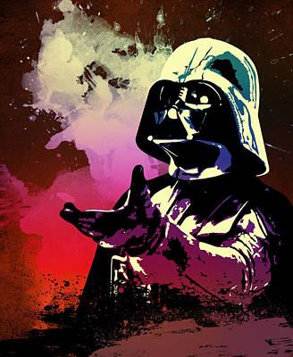 At Poster Digital Art - Star Wars.darth Vader. by Elena Kosvincheva