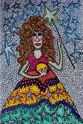 Little Girls Mixed Media - Star Wish  Fairy by Gerri Rowan