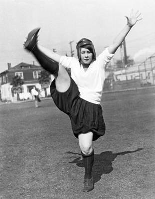 Star Woman Soccer Player Print by Underwood Archives