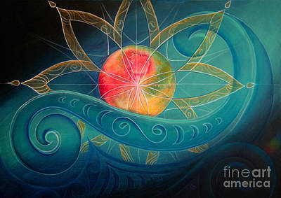 Star Burst Painting - Starburst by Reina Cottier