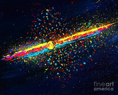 Modernart Painting - Stardust  by Allison Constantino