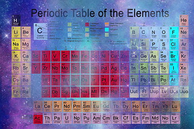 Stardust Periodic Table No.2 Print by Carol and Mike Werner