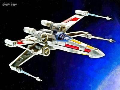 Hornet Painting - Starfighter X-wings by Leonardo Digenio