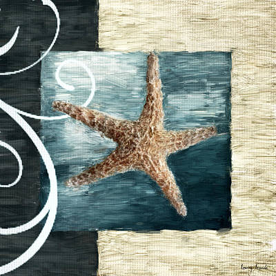 Shell Texture Digital Art - Starfish Spell by Lourry Legarde