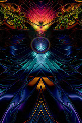 Stargate Symmetrical Abstract Print by Sharon and Renee Lozen