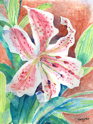 Lillies Painting - Stargazer Lily by Arline Wagner