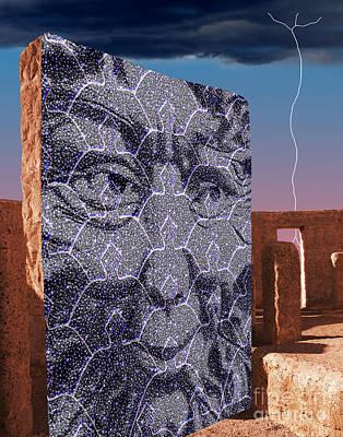 Monolith Digital Art - Starman Monolith by Keith Dillon
