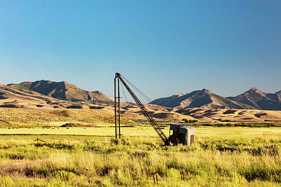 Copy Machine Photograph - Starr Valley Crane by Todd Klassy