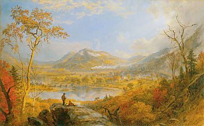 Starrucca Viaduct Print by Asper Francis Cropsey