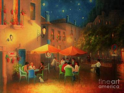 Starry Night Cafe Society Print by Joe Gilronan
