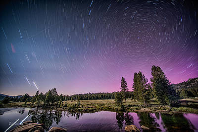 Star Trails Photograph - Starry Sky by Bill Roberts