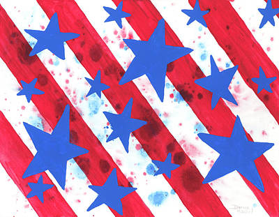 Independence Day Painting - Stars And Strips  by Darice Machel McGuire