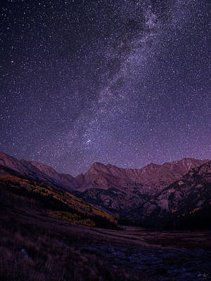 Eagles Photograph - Stars Over The Eagle's Nest Wilderness by Aaron Spong