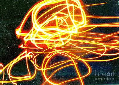 Abstract Digital Light Trails Photograph - Starseed by Xoey HAWK