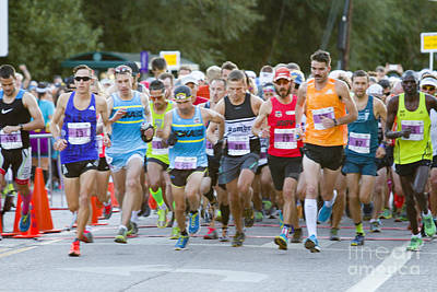 Start Of The Pikes Peak Marathon And Ascent Print by Steve Krull