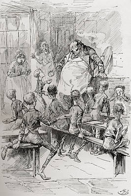 Hunger Drawing - Starvation In The Workhouse. Please by Vintage Design Pics
