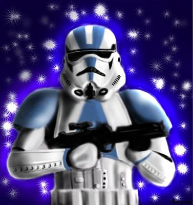 Starwars. Stormtrooper Print by Sandra Geis