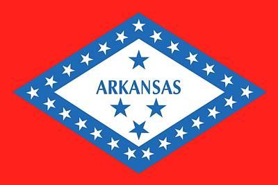 Patriotism Painting - State Flag Of Arkansas by American School