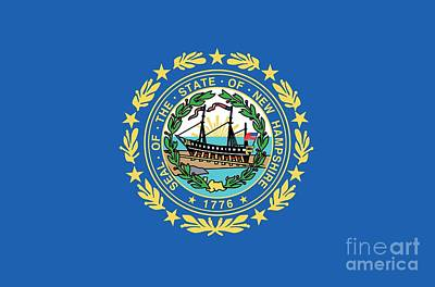 State Flag Of New Hampshire Print by American School