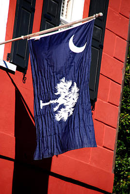 Palmetto Tree Photograph - State Flag Of South Carolina by Susanne Van Hulst