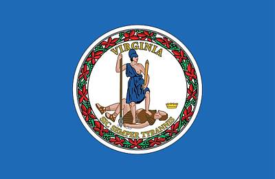 Federal Government Painting - State Flag Of Virginia by American School