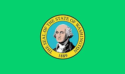 Federal Government Painting - State Flag Of Washington by American School
