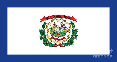 Axes Painting - State Flag Of West Virginia by American School