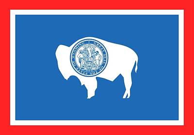 Coat Of Arms Painting - State Flag Of Wyoming by American School