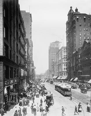 Historic Chicago Photograph - State Street - Chicago 1900 by Daniel Hagerman