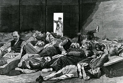 Nightwatch Painting - Station House Lodgers by Winslow Homer