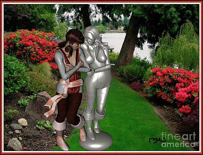 Statue In Love With Its Original Print by Pemaro